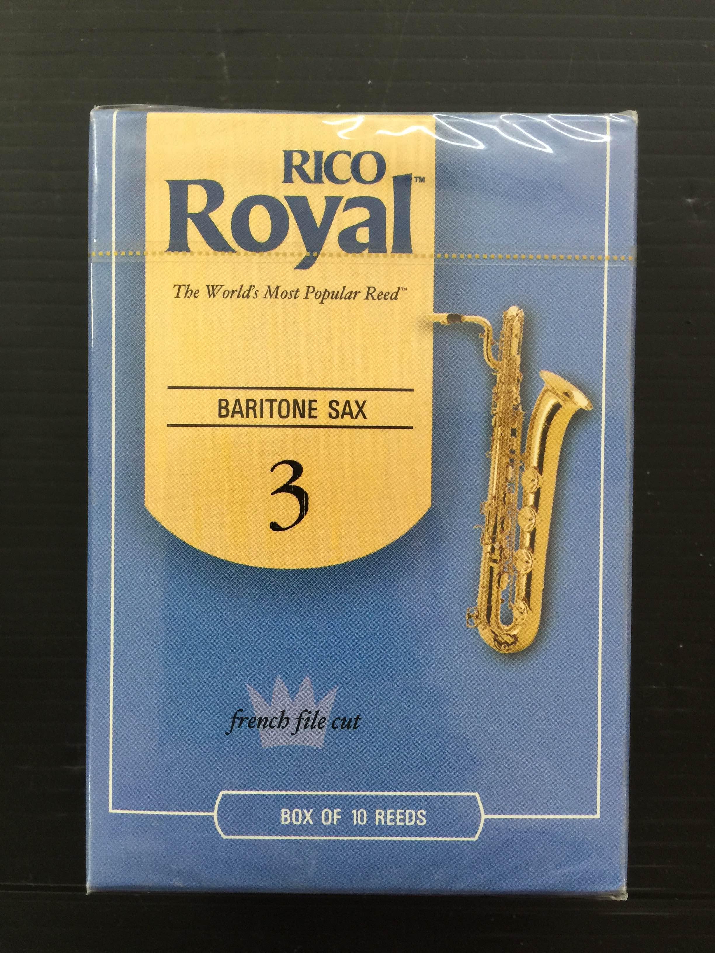 קופסה של 10 עלים RICO/RICO ROYAL סקסופון בריטון