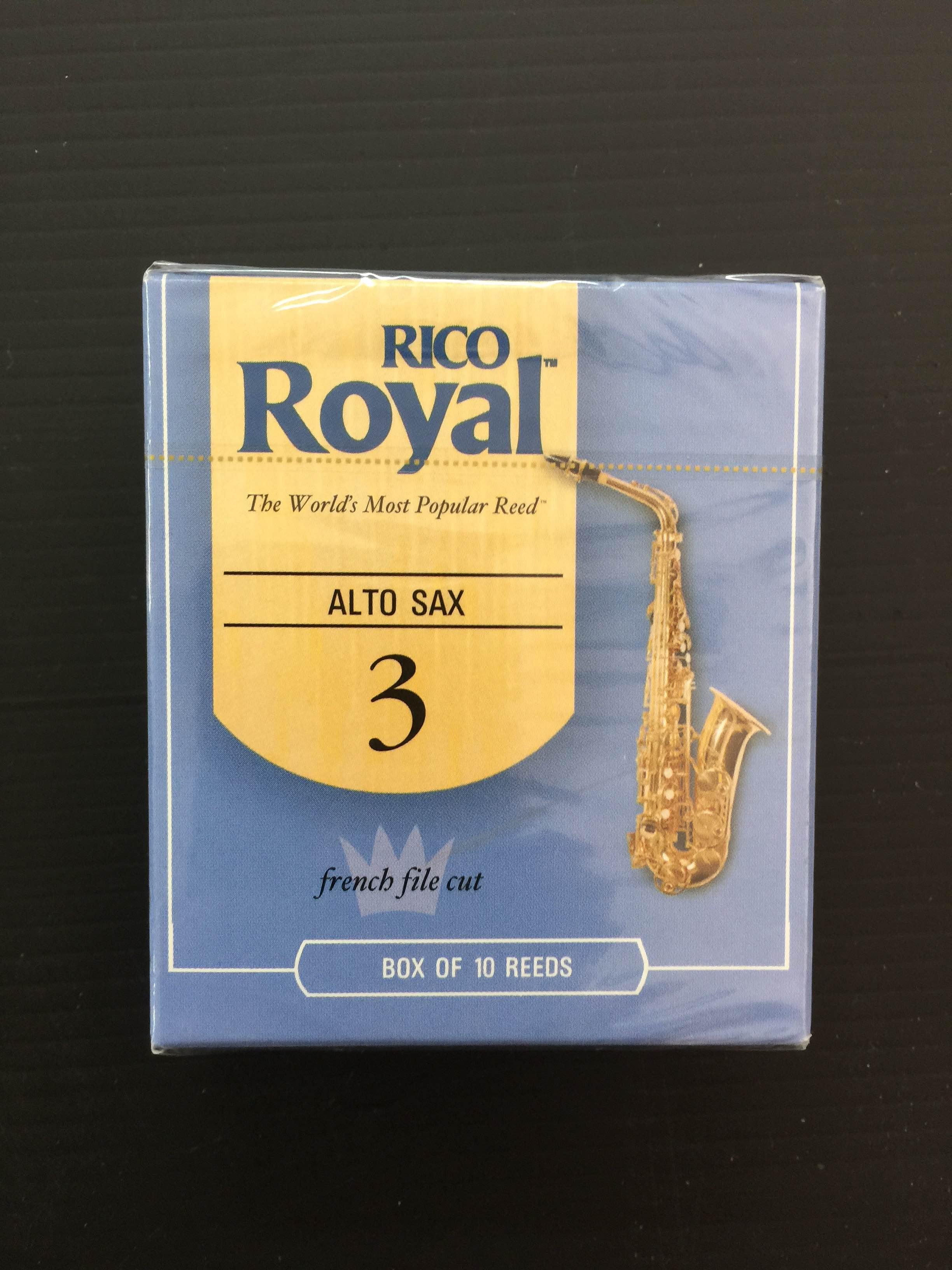קופסה של 10 עלים RICO/RICO ROYAL סקסופון אלט