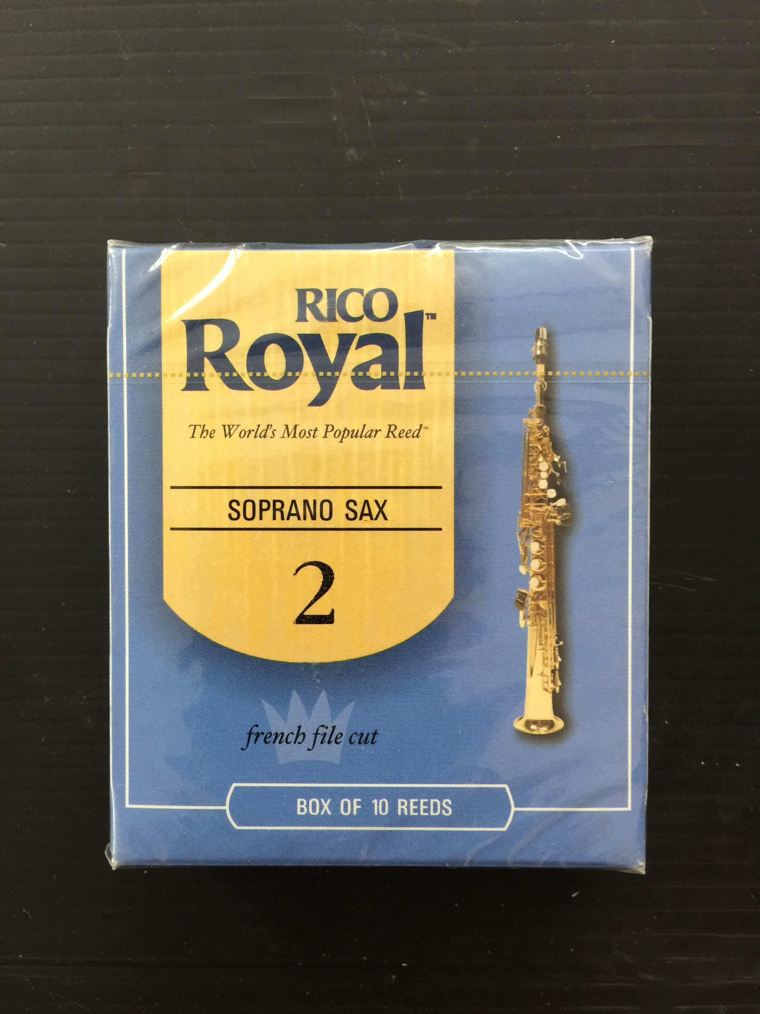 קופסה של 10 עלים RICO/RICO ROYAL סקסופון סופרן