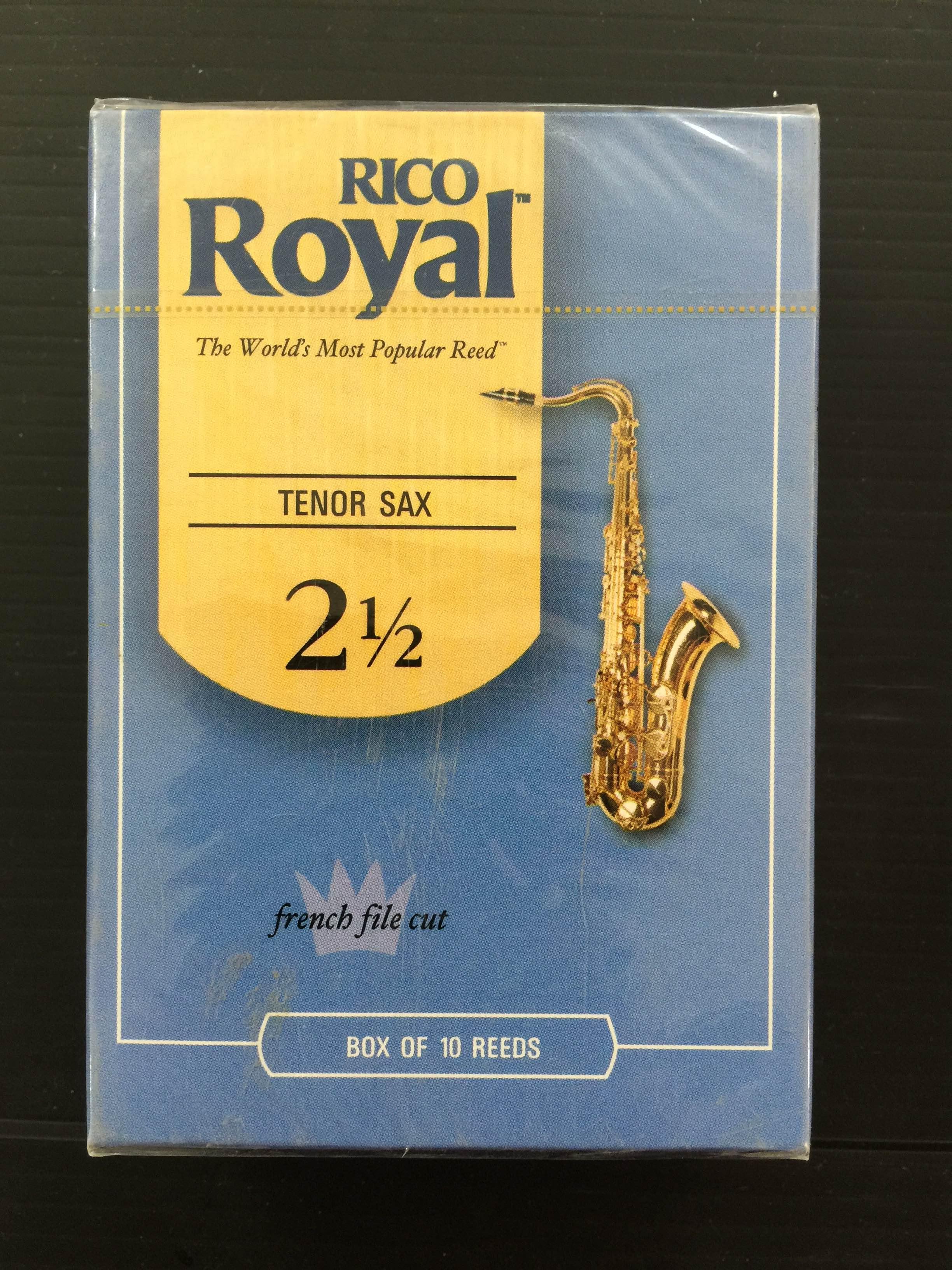 קופסה של 10 עלים RICO/RICO ROYAL סקסופון טנור